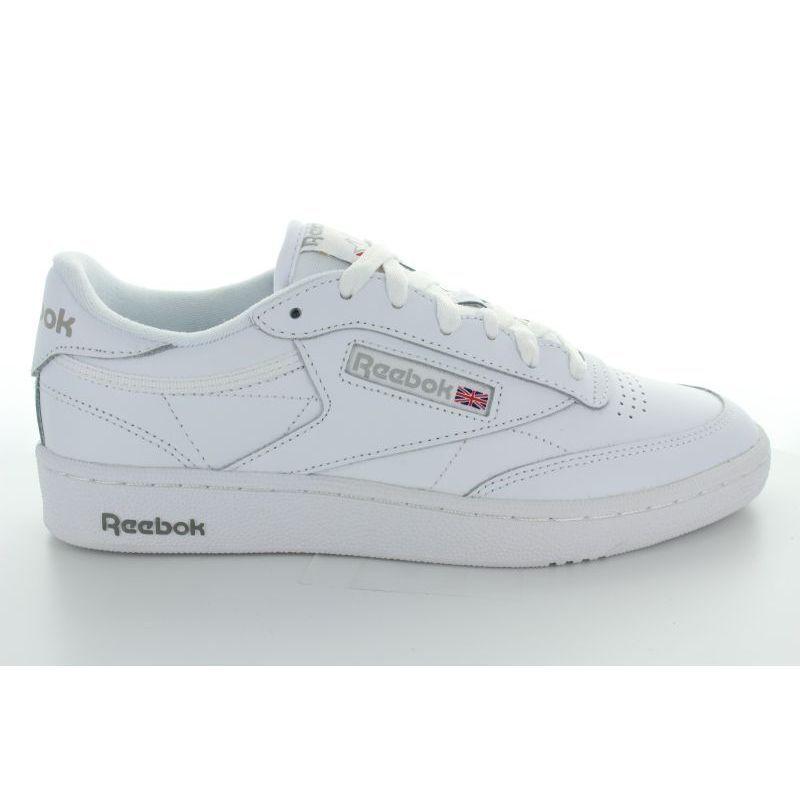 Club c leather blancoo gris 85
