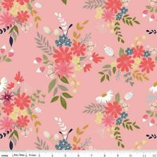 Butterflies Pink Black Bugs Cotton Fabric Timeless Treasures C6707 By The Yard