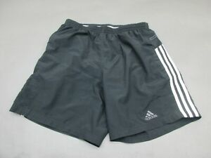ADIDAS-SIZE-M-WOMENS-BLACK-ATHLETIC-CLIMALITE-LINED-SPORTSWEAR-TRACK-SHORTS-944