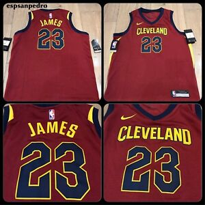 NIKE NBA CLEVELAND CAVALIERS LEBRON JAMES JERSEY ICON SWINGMAN Size ... fdd7ad174a4