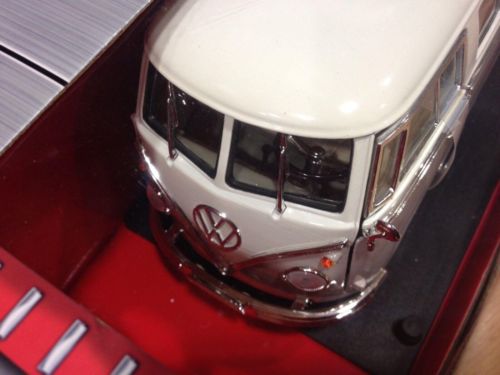 Coche 1 coleccion Road signature,escala 1 Coche 18,metalico,1962 Volkswagen T1,Ref92327 7dd35a