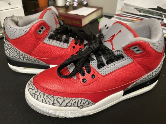 Nike Air Jordan 3 Retro SE Youth Size 5Y Red Cement GS CQ0488-600