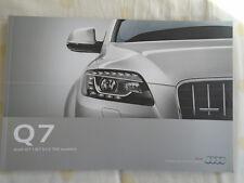 AUDI Q7 opuscolo APR 2011 mercato europeo TESTO INGLESE