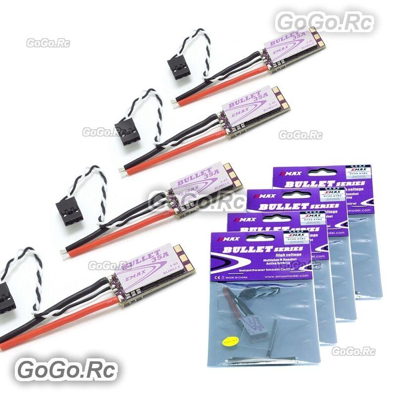 4x Emax Bullet BLHeli-S 35A Mini ESC Mini Mini Mini DScaliente ESC For 3-6S Brushless FPV 80c44d