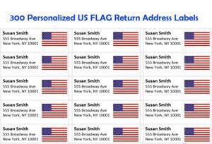 30 Custom New York Flag Personalized Address Labels
