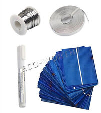40PCs 52x78mm Poly Solar Cells +Tab,Bus Wire,Flux for DIY Panel/Battery Charging
