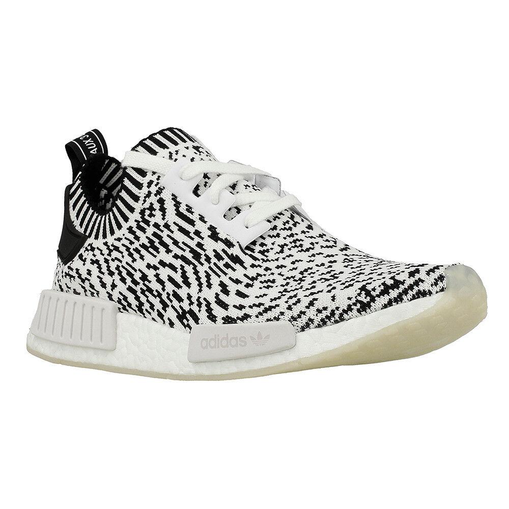 Adidas NMD_R1 PK White Black White Zebra Pack Primeknit BZ0219 (433) Men's Shoes