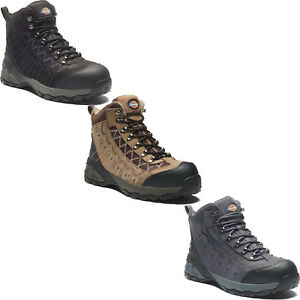 Sizes 6-12 Men/'s Shoes Dickies Gironde Safety Work Boots Brown