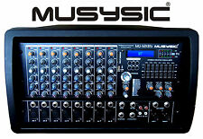PROFESSIONAL 8 CHANNEL 8000W POWER MIXER with REAL DSP Bluetooth/USB/SD MU-MX8fx