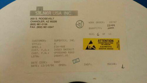 vp0550n3 Supertex Inc. 10 un. trans Mosfet P-ch 500v 0.054 una 3 Pines To-92 T//r