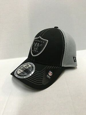7c715b5da NFL Oakland Raiders New Era Black/Silver Men's Pop Reflection Hat, S/M |  eBay