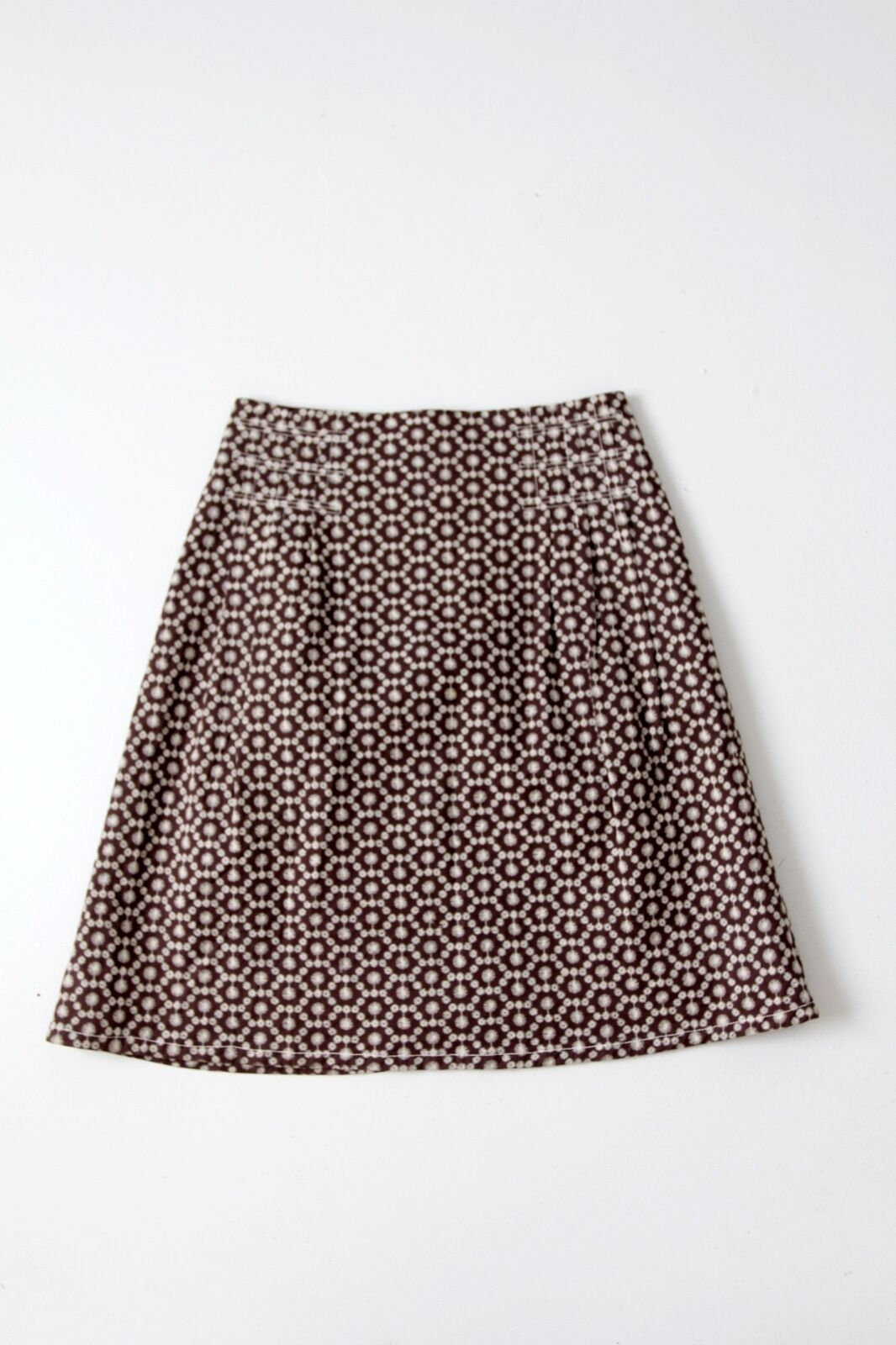Carolina Herrera a-line skirt embroidered cotton above the knee skirt size 8