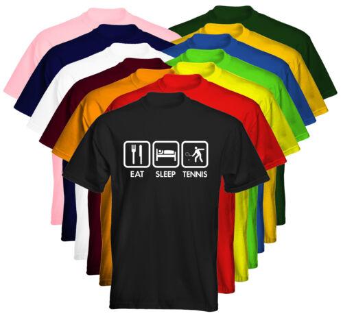 Velocitee Kids T-shirt logo EAT SLEEP Tennis 1 taglia e colore a scelta delle opzioni UK Venditore