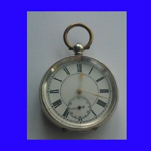 Substantial-Silver-Swiss-Lepine-KW-Cylinder-Pocket-Watch-Ca-1885
