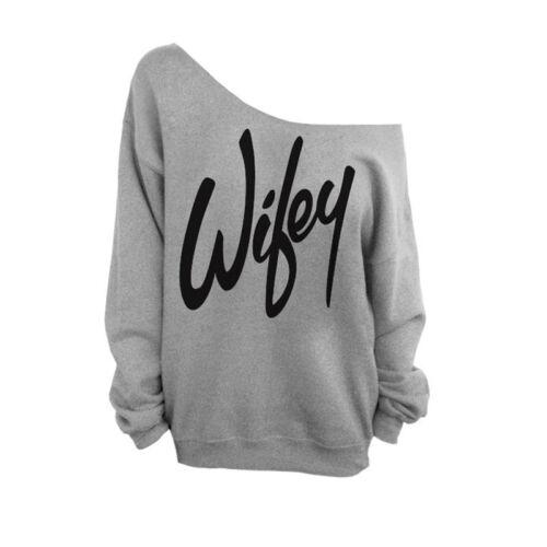 Damen Pullover Sweater Schulterfrei Langarmshirt Sweatshirt Oberteile Top Jumper