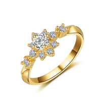 9mm AAA CZ Band Women's 18K White/Yellow Gold Filled Wedding Party Ring Size 4-9