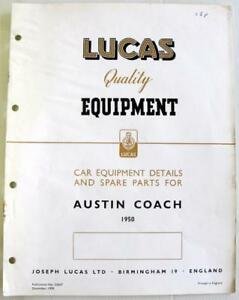 Details about Lucas AUSTIN Coach 1950 CE657 Electrics Equipment & Spare  Parts