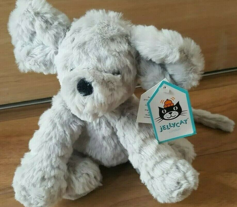 Jellycat Fuddlewuddle small Mouse Beanie soft toy 15cm new