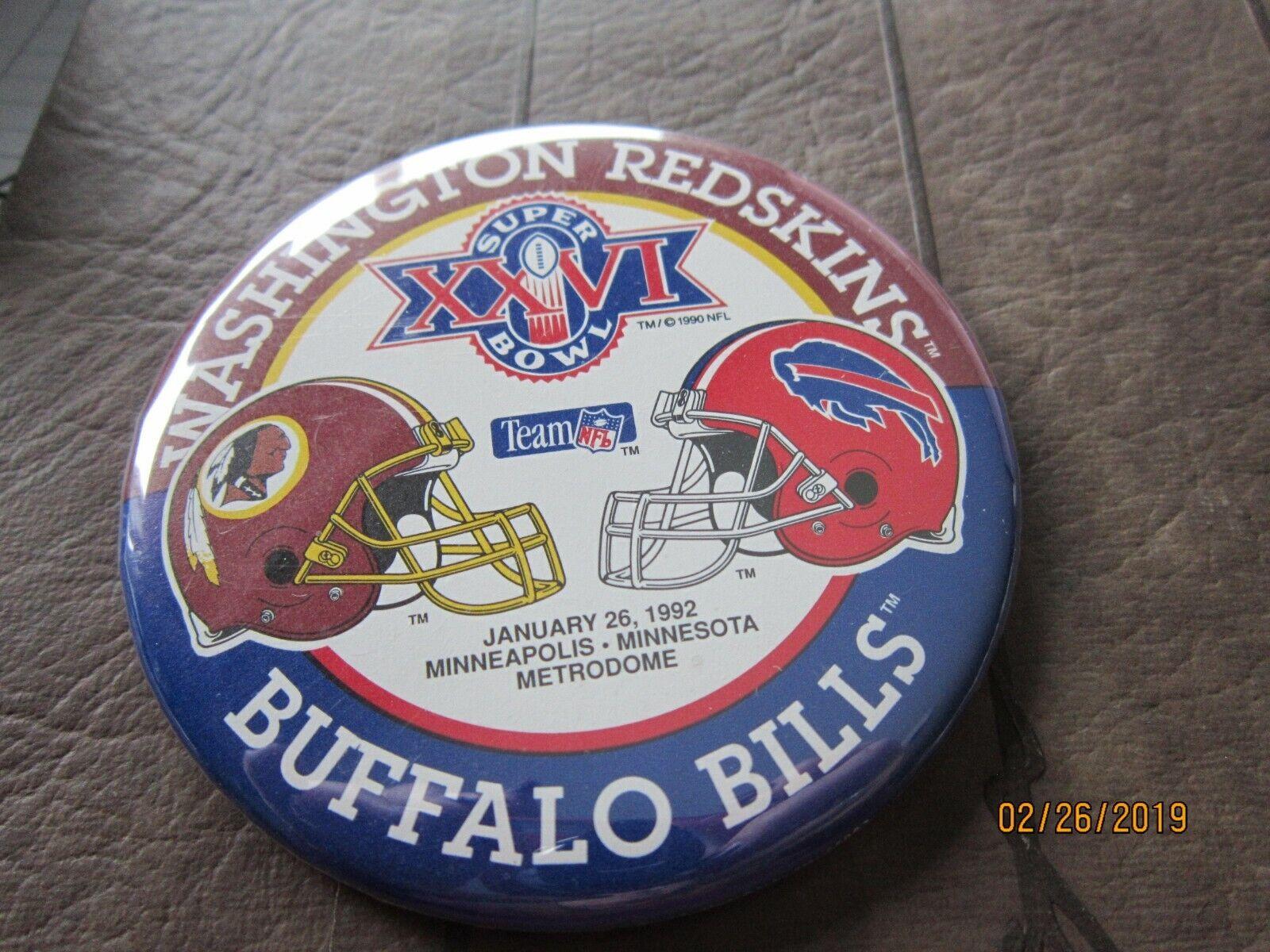 Minnesota Super Bowl XXVI Pin Minneapolis Metrodome Redskins Bills