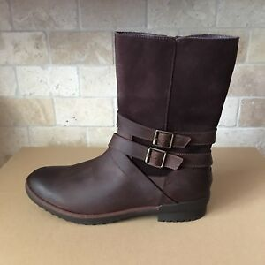 f78338f2ae4 Details about UGG LORNA COCONUT SHELL BROWN WATERPROOF LEATHER SUEDE SHORT  BOOTS SIZE 10 WOMEN