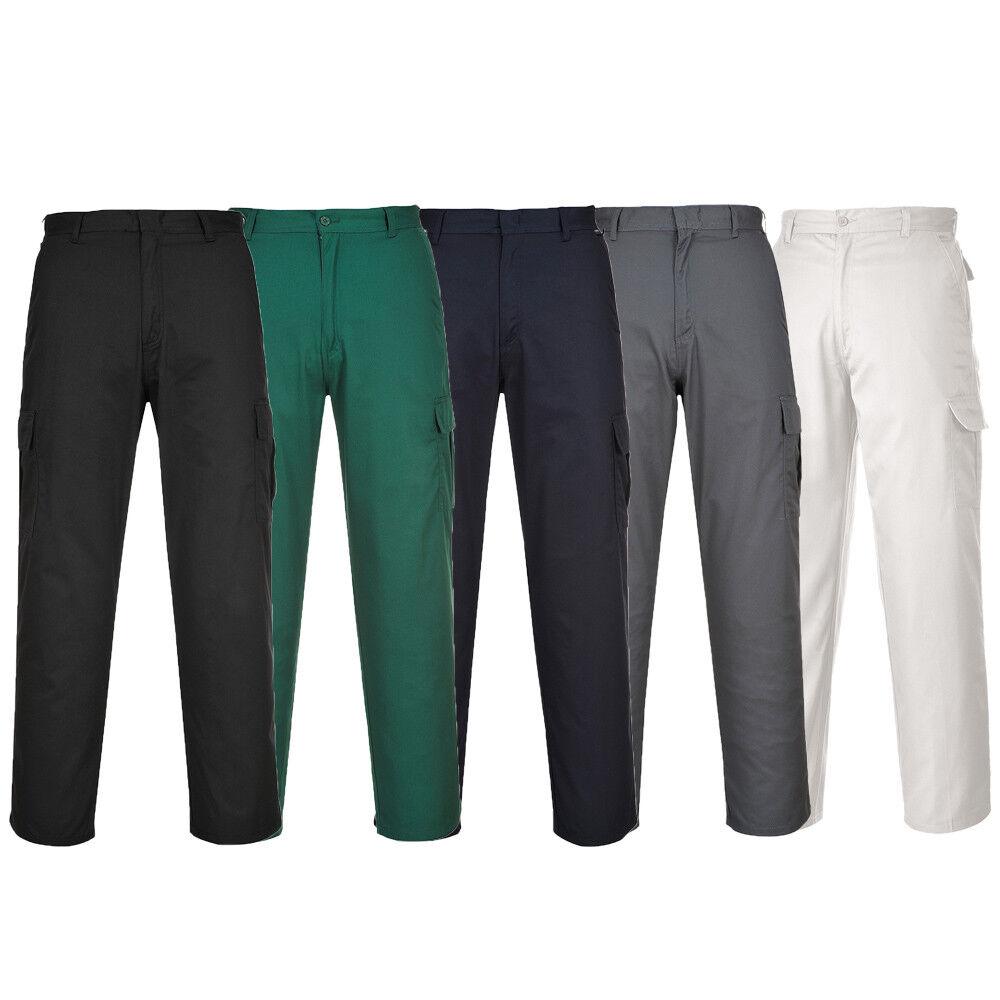 *DISCOUNT* PORTWEST Combat Trouser Side Pockets Polycotton Uniform Rugged C701