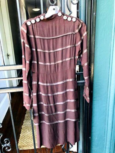 1920's/1930's Vintage Rayon Crepe Dress Abalone bu