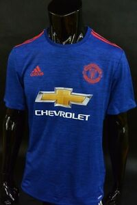 online store 377ec 57c6a Details about adidas Manchester United 2016-2017 adizero Away Jersey Player  Issue Shirt SIZE L