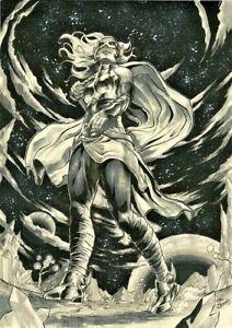 MARVEL-Comics-JANE-FOSTER-THOR-Original-Art-WAR-OF-REALMS-THANOS-AVENGER-ENDGAME