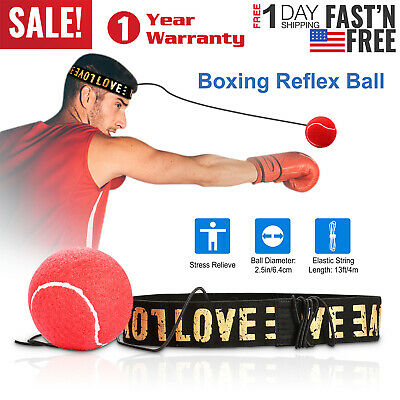 US Boxing Training Fight Ball Reflex Speed Reaction Punch Combat Muscle Exercise
