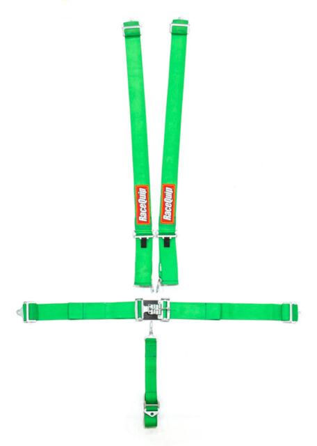 RaceQuip 711031 Yellow Race Car Seat Belts 5pt SFI Safety Harness IMCA Razor RZR