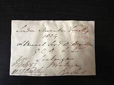 WILLIAM PARKER & MAURICE F.F. BERKELEY - NAVAL ADMIRALS - SIGNED ENVELOPE FRONT
