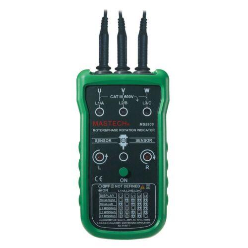 USA MS5900 motor 3 phase rotation indicator FLUKE F9062 w// Case Bag
