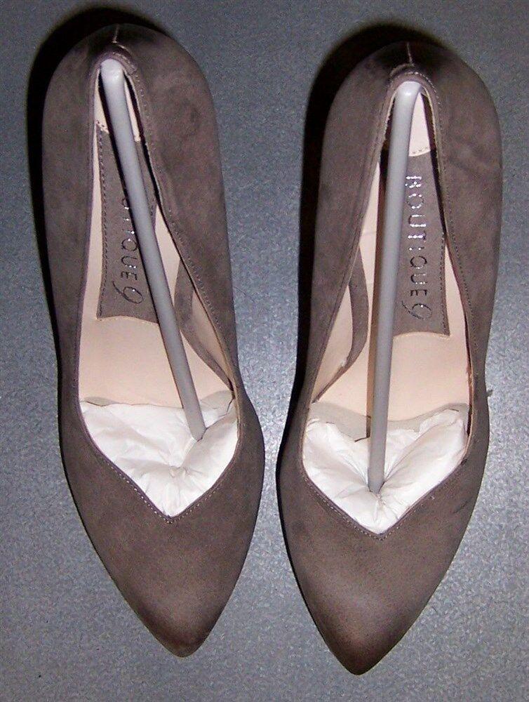risparmiare sulla liquidazione Heel Pump Platform Chocolate Suede Leather Boutique 9 donna donna donna Dimensione 8 New  nuovo sadico