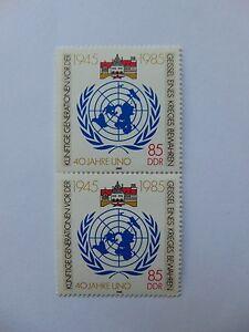 DDR 40 Jahre UNO 85 Pfennig(**) mit Plattenfehler Mi 2982 I