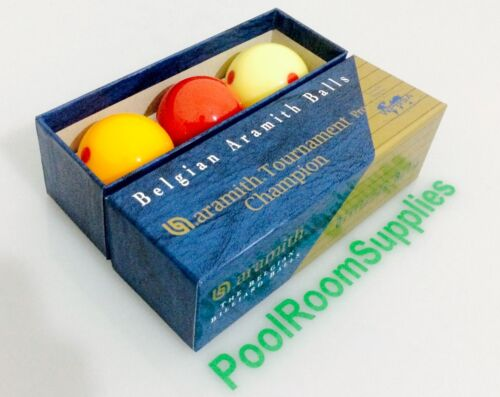 REAL Billiard Ball Set 2 /& 1//16 inch Aramith Pro Cup MEASLE Spot Tournament Set