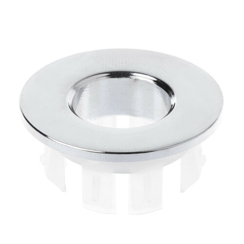 Basin Faucet Brass Sink Overflow Cover Insert Chrome Ring Bathroom Hole Cap