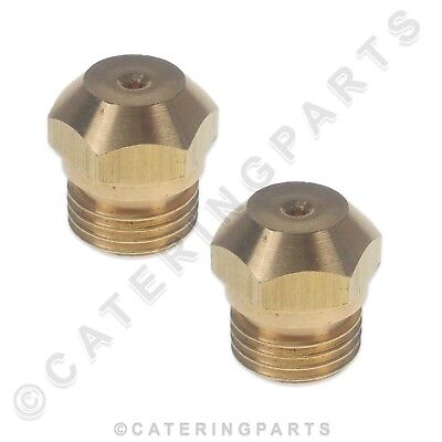 "0.9 ORIFICE BURNER JET NOZZLE BRASS THREADED SCREW IN GAS INJECTOR 1//4/"" 1//8/"" 09"