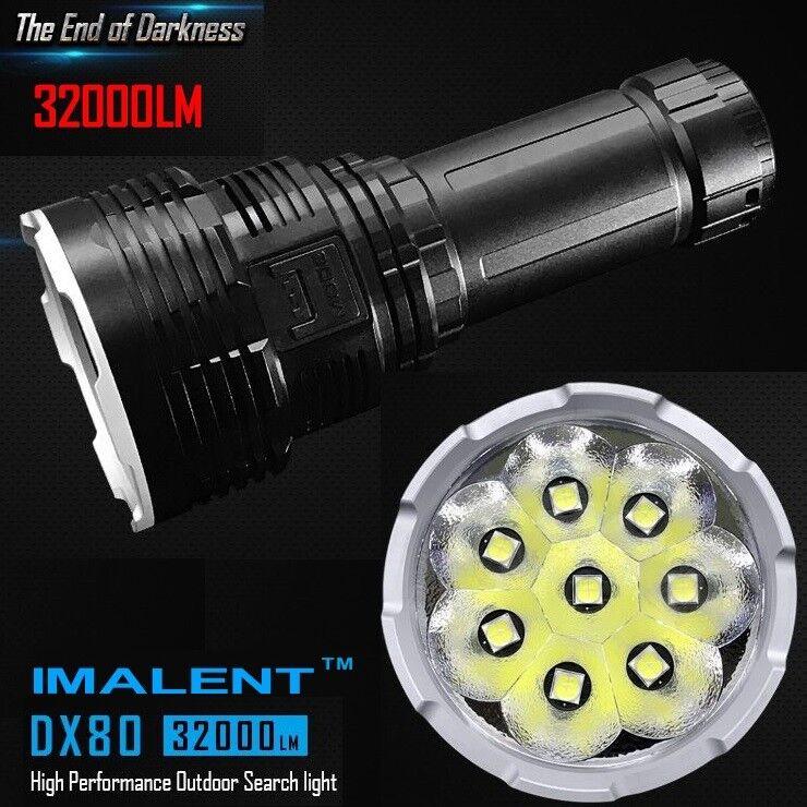 IMALENT DX 80 weltweit hellste Taschenlampe 32000 Lumen 8 Stk. CREE XHP 70-2 Gen  | Zahlreiche In Vielfalt