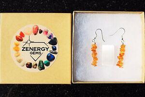 CHARGED-Citrine-Designer-Crystal-Chip-Earrings-REIKI-Energy-ZENERGY-GEMS