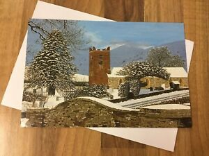 Christmas Card Mouth And Foot Painting Artists Snowy Worship Ebay