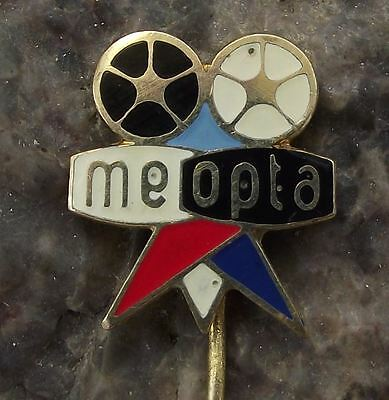 1960s Meopta Movie Camera Cine Cinema Projector Tripod & Film Reels Pin Badge