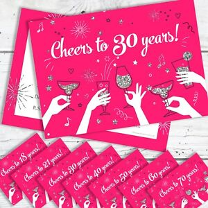 50th 60th 21st Birthday Party Invitations 10x Personalised 70th 40th,30th