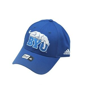 BYU Cougars Official NCAA Adidas Kids Youth Size Hook & Loop Hat Cap OSFM New