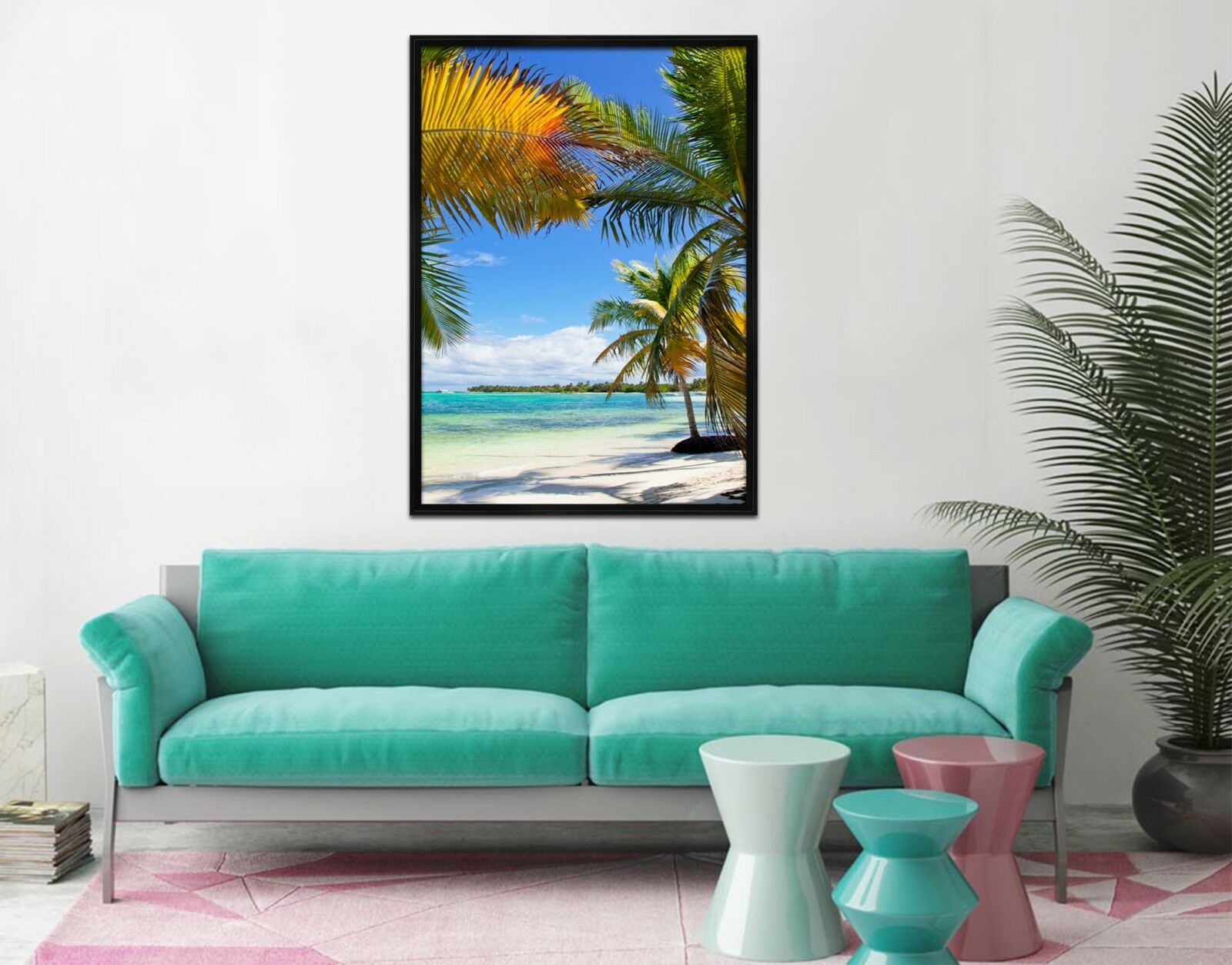 3D Tropical Beach 67 Fake Framed Poster Home Decor Print Painting Unique Art