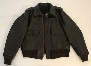 Flight Jacket SCHOTT Modèle I.S.674.MS Vintage 80's Taille US 42 / Taille EUR M