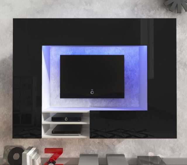 TV Wall Unit Next Modern Set Media Centre High Gloss Delivery LED ...