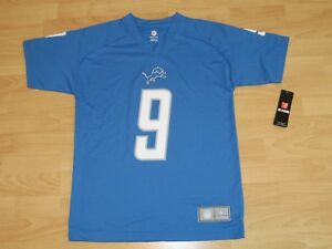 7587901d Detroit Lions Matthew Stafford #9 Honolulu Blue Football Jersey Size ...