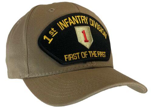 """1st division d/'infanterie Chapeau Kaki Casquette /""""Premier de la première/"""" U.S ARMY"""