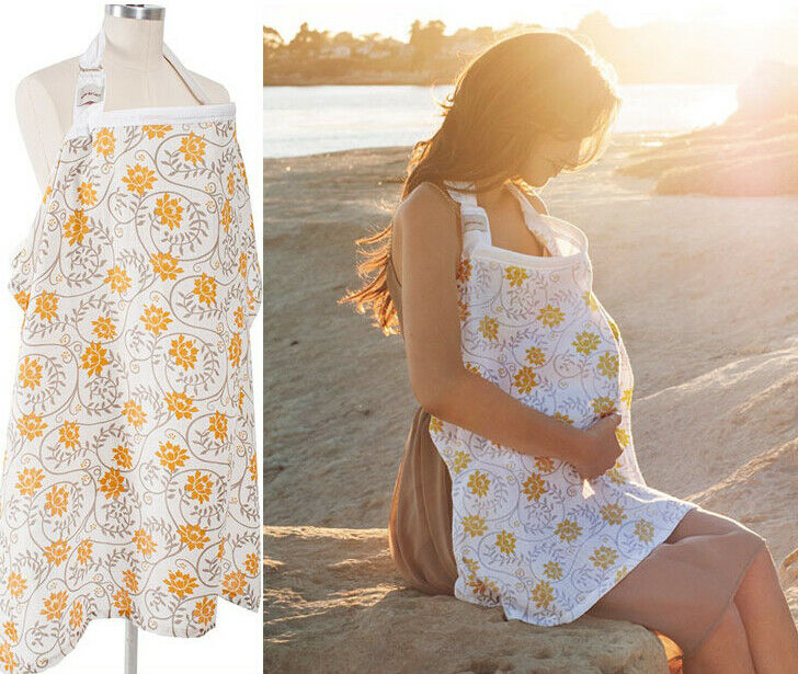 UK Seller Breastfeeding Cover Up Nursing Cape Shawl Poncho Cotton Baby Scarf