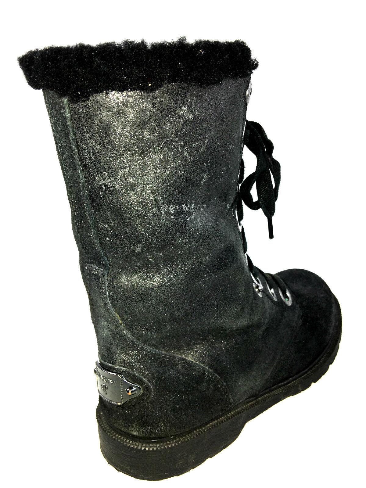Bearpaw Women's Ankle-High Sheepskin Boot Black Size 8 Usa.